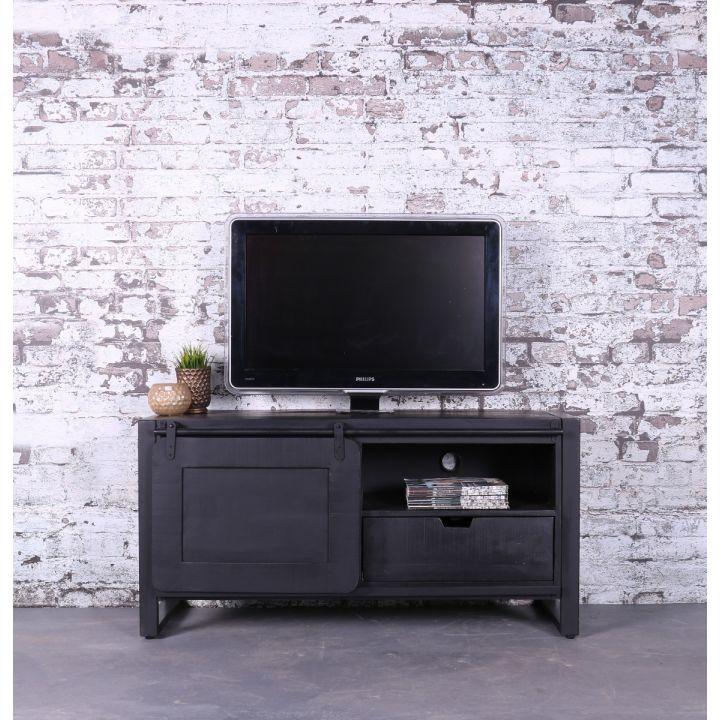 Zwart tv meubel industrieel