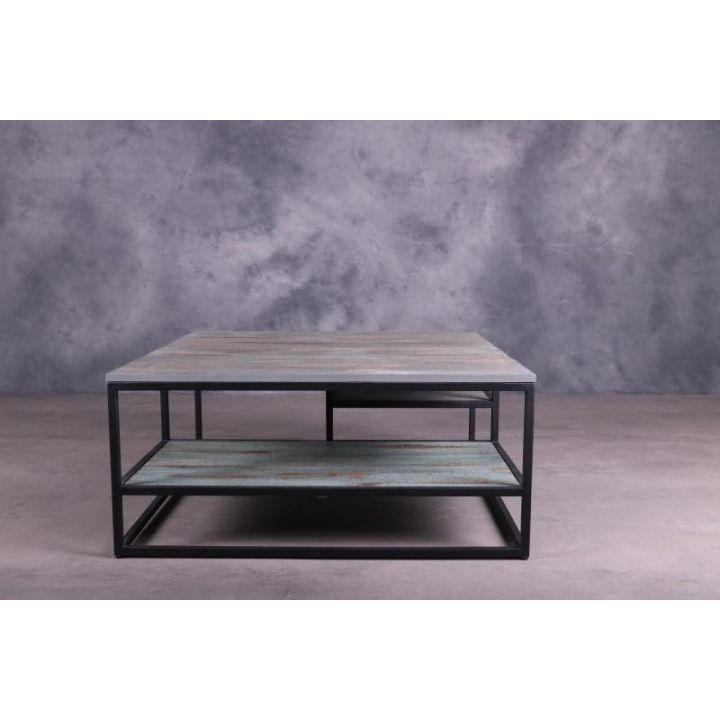 Industriële salontafel vierkant