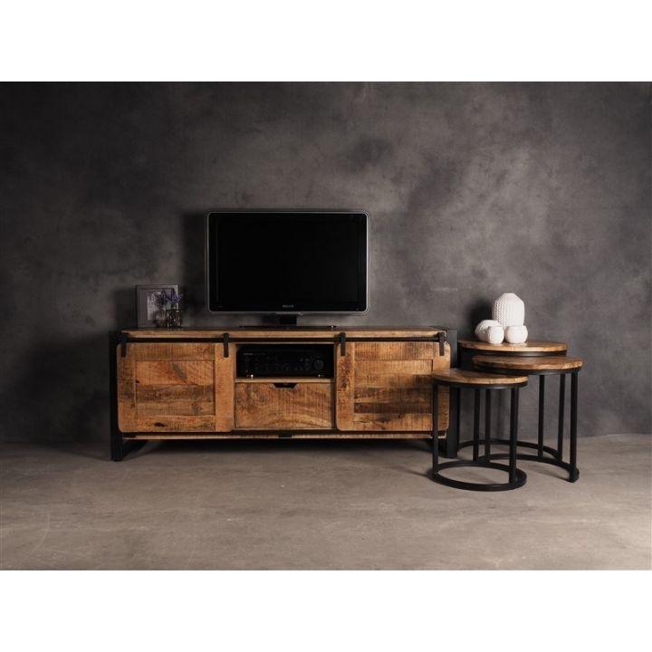 TV meubel industrieel mangohout 165cm