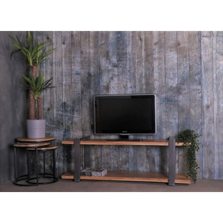 mangohouten tv meubel 160 cm