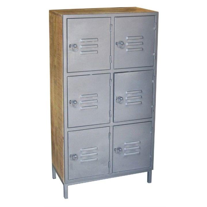 houten lockerkast grijs