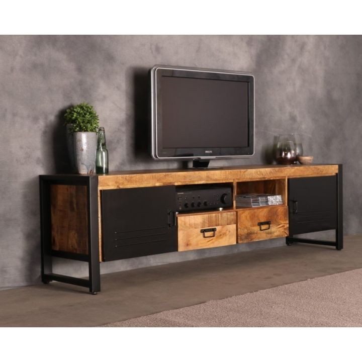 tv meubel mangohout 200 cm