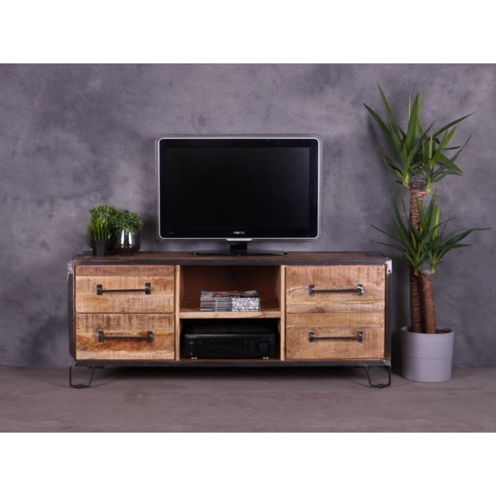 Tv meubel mangohout 150 cm