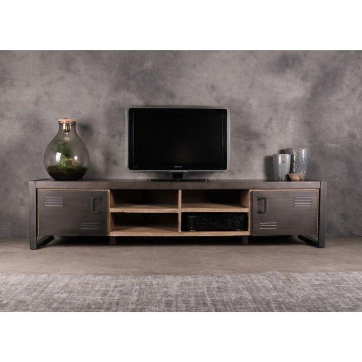 tv meubels industrieel betonlook 220cm