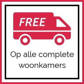 Alle complete woonkamers gratis bezorgd