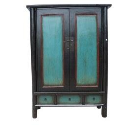 Chinese kast blauw