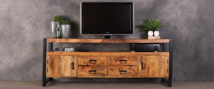 Industrieel tv meubel britt