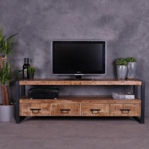 Industrieel tv meubel mangohout 180cm