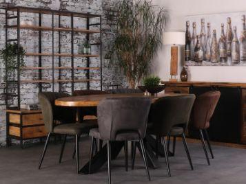 Industriële meubels van mangohout