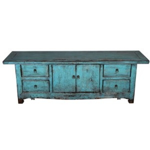 Oosters tv meubel Blauw