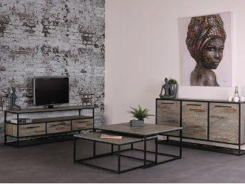 complete woonkamer industriële meubels