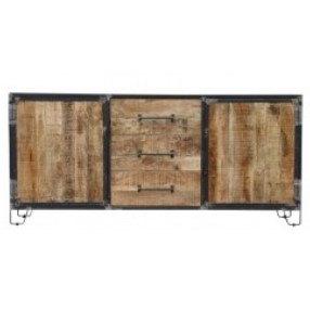dressoir mangohout metaal