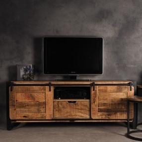 Industriële tv meubels van mangohout