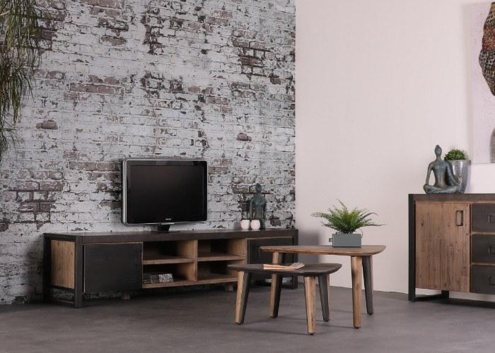 Industrieel tv meubel betonlook. 220 cm