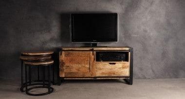 tv meubel industrieel met schuifdeur