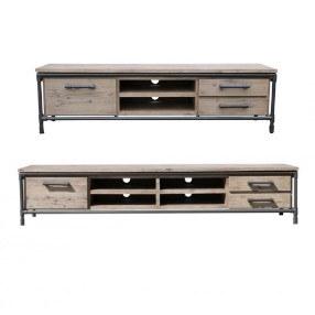 Industrieel tv meubel staal met hout