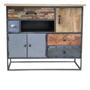 Industrieel vintage dressoir