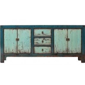Antiek chinees dressoir blauw