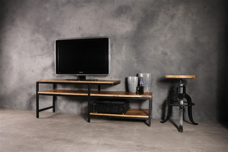 TV meubel industrieel mangohout € 249,=